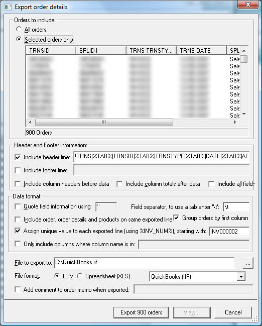 How to Import your Actinic orders into QuickBooks